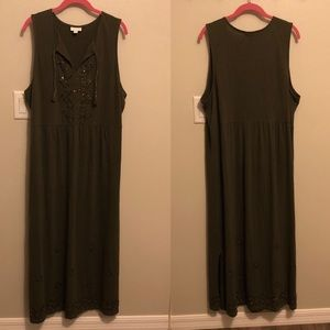 J. Jill Boho Embellished Maxi Dress